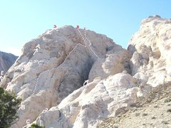 Rock Climbing Photo: A)Rilke's Climb 5.8.B)Easter Prohibition 5.9R C)Tr...