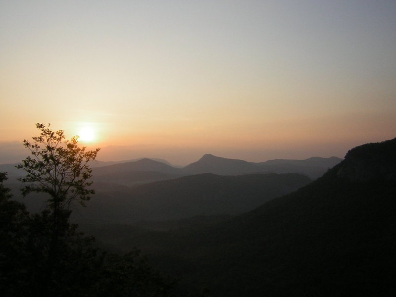 Rock Climbing Photo: Sunrise over Cashiers valley