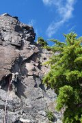 Rock Climbing Photo: leading up the second pitch - possibly the best mo...