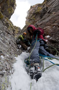 Rock Climbing Photo: Jonny Copp and Steve Su in the upper gully of Dog ...