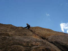 Rock Climbing Photo: Jeremiah on the sweet 4th pitch... felt more like ...