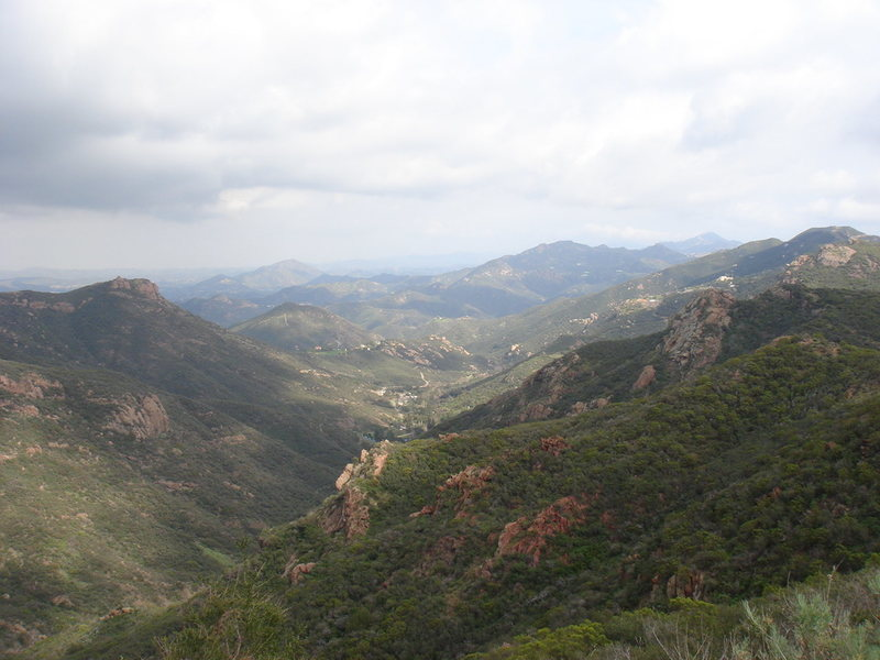 Rock Climbing Photo: Looking down the valley to the northeast? from the...