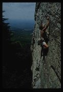 Rock Climbing Photo: John Provotero c.a. 1989. Note the existence of be...
