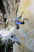 Rock Climbing Photo: Orient Bay, Canada. Kate Muehling leading the crux...