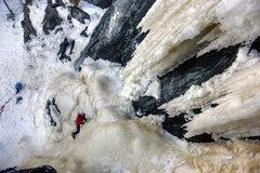 Rock Climbing Photo: Kama Bay, Canada. Henning Boldt on the lower secti...