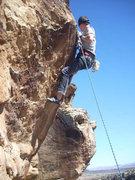 Rock Climbing Photo: Seth Wiscombe finishing the crux