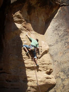 Rock Climbing Photo: Moving through lower section