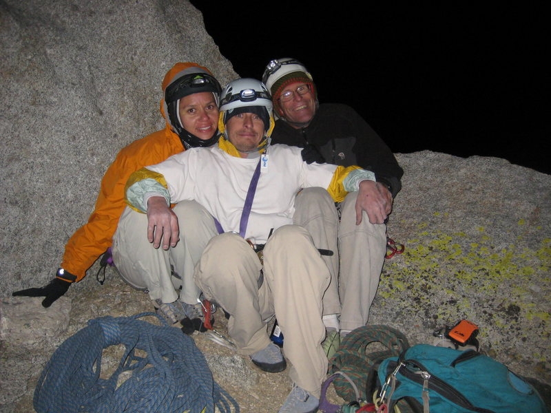 Chad, Kenn K. & me at the top of Muir...13 pitches then on to summit Whitney too