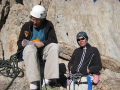 Rock Climbing Photo: Kenn & I on a ledge trying to rate a pitch....