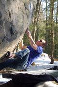 Rock Climbing Photo: Chris going nowhere...