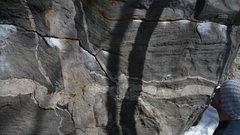 Rock Climbing Photo: End of Traverse