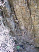 Rock Climbing Photo: Matt, using a good old armbar!