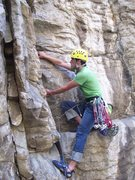 Rock Climbing Photo: Good tech at the crux will get you to the ledge th...