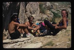 Rock Climbing Photo: Hassan, Porter and Frank in summer 1990