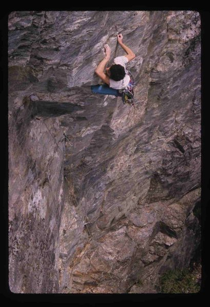 Rock Climbing Photo: Stephan LaPierre on Wild Kingdom in 1988. photo PJ