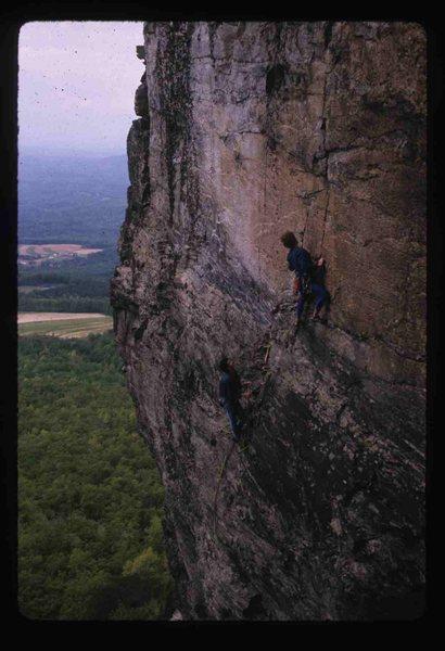 Rock Climbing Photo: Stephan LaPierre belaying partner on Billboard pit...