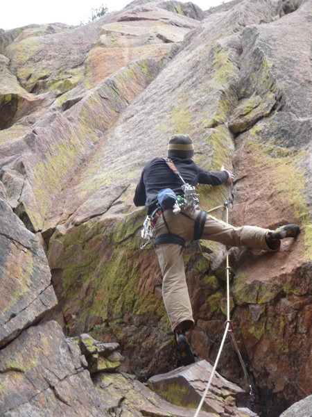 "Rock Climbing Photo: Scott pulling into the corner on ""Red House&q..."