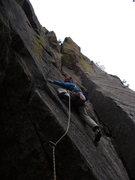 Rock Climbing Photo: Joe feeling like he needs to find some pro....