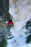 Rock Climbing Photo: Orient Bay, Ontario. Henning Boldt nearing the top...