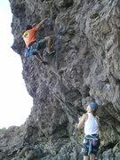Rock Climbing Photo: Scott Jones belaying me at the start of Well-disci...