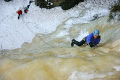 Rock Climbing Photo: Kate Muehling leading Andromeda Weeps. Orient Bay,...