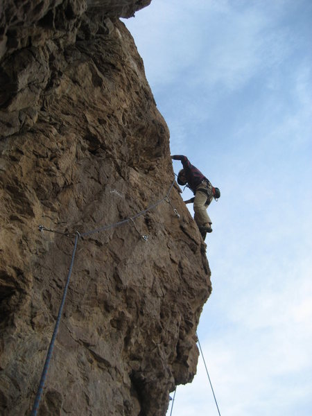 Bob Almond on the first ascent