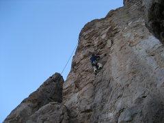 Rock Climbing Photo: Bob Almond at the crux moves