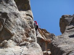 Rock Climbing Photo: Cranking up the headwall to the anchors.