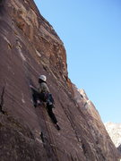 Rock Climbing Photo: Tobey Carman moving through the thin start.