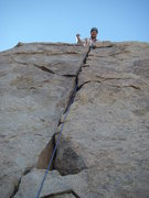 Rock Climbing Photo: Early lead.