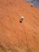 Rock Climbing Photo: Bill Weiss descends.  He's just a little below the...