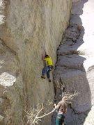 Rock Climbing Photo: pulling the cruxy start
