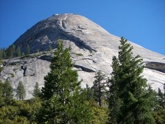 Rock Climbing Photo: North Dome with the South Face route on Crest Jewe...