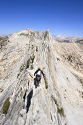 Rock Climbing Photo: Zach Orman soloing Matthes Crest