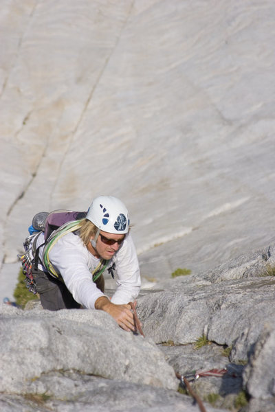 Max Senges on the Regular Route 5.9, Fairview Dome, Tuolumne Meadows