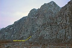 Rock Climbing Photo: The entrance to 'Sheelite Canyon/Pratt's Crack Gul...