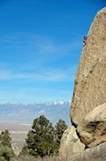 Rock Climbing Photo: Greg Smith nearing the top of the spectacular aret...
