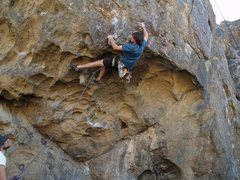 Rock Climbing Photo: D.Burd sending Red Devil