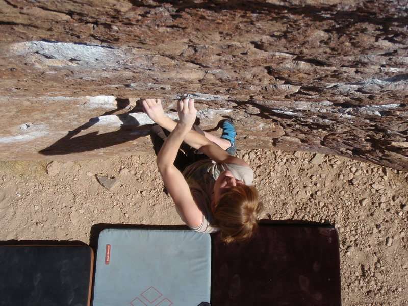 Rock Climbing Photo: Brittny heading up solarium