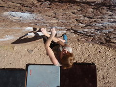 Rock Climbing Photo: Brittny heading up solarium