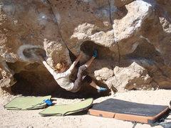 Rock Climbing Photo: Brittny traversing the Vulcan!