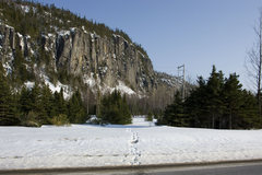 Rock Climbing Photo: Parallax approach trailhead as seen from Highway 1...