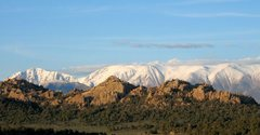 Rock Climbing Photo: The Benton Crags with the White Mountains behind i...