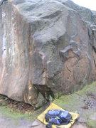 Rock Climbing Photo: Delivarete in the wet