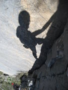 Rock Climbing Photo: Now that guy has a BIG head and little legs!
