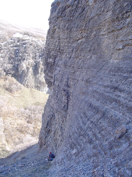 Rock Climbing Photo: East Side of Dynomite looking South