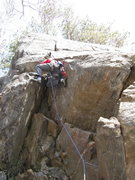 Rock Climbing Photo: Richard pulling through the crux