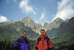 Rock Climbing Photo: Me and Wlodek Comporek. Slovakian Tatras, summer 2...