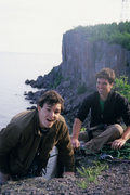 Rock Climbing Photo: Isaac and Joel. Top of Poseidon Adventure, Palisad...