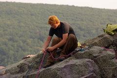 Rock Climbing Photo: Ted. Devils Lake. July '08.
